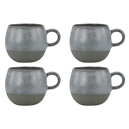 CreaTable Loft Stone Kugel Kaffeebecher, Steinzeug, grau (4 Stück)