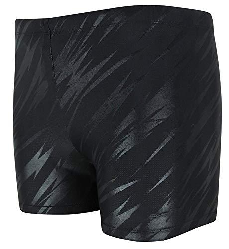 Vocni Men's Compression Quick Dry Rapid Swim Splice Square Leg Short Jammer Swimsuit