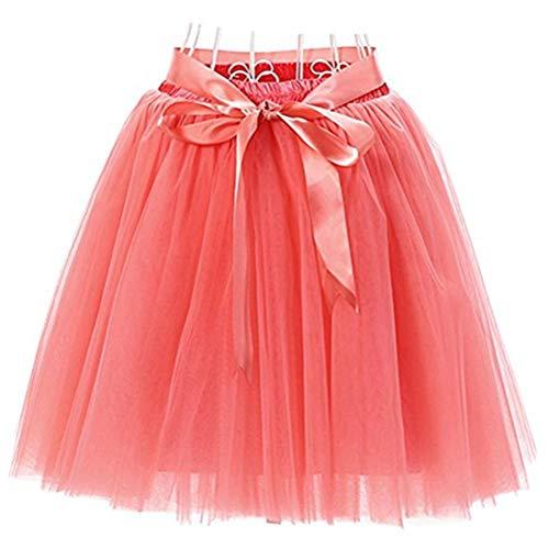 Dames 7 lagen 50 cm knielang tutu jurk rok ruitje avonddrok modieuze riempje strik trendy heerlijk elegante young fashion avondjurk