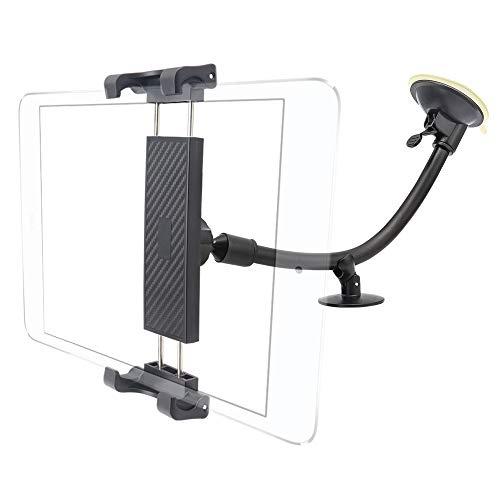 Cuxwill Soporte Tablet Coche Parabrisas con Brazo Largo Ventosa, Soporte Tableta para iPad Pro 12.9 11 10.5, iPad Mini Air 5 4 3 2 1, Samsung Galaxy Tabs y más 7 a 12.9 Pulgadas Tabletas