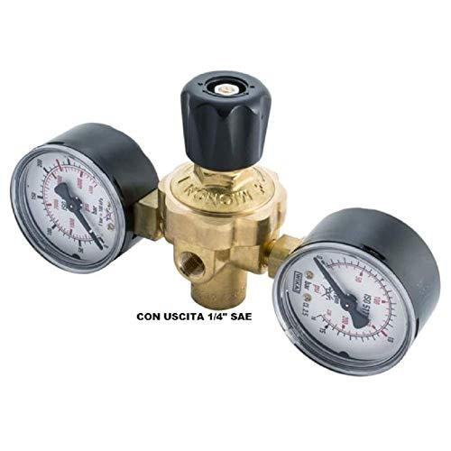 Ajuste del reductor de presión  M10x1Rh Serie Mignon para cilindros de nitrógeno EE.UU desechable + racor SAE 1/4 X climatización de aire acondicionado