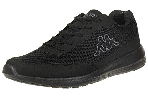 Kappa FOLLOW OC | Freizeit-Sneakers für Frauen und Männer | super-leicht, modisch und zeitlos | angenehmes Tragegefühl | atmungsaktiv, Größe 36 - 461116 black/grey, Größe 43