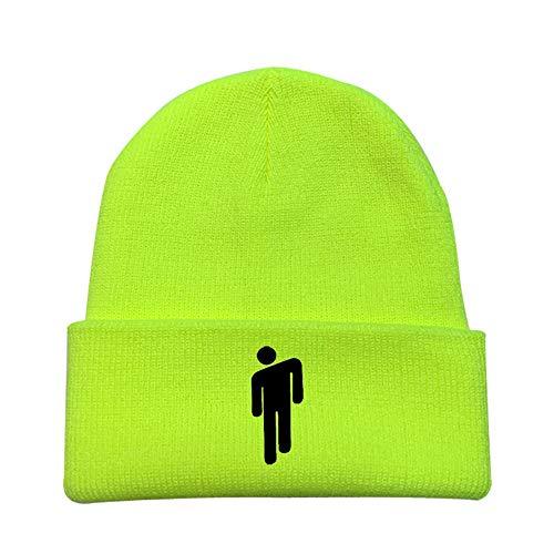 Unisex Billie Eilish Cappello per Donna Uomo Beanie Multicolore Hip-Hop Inverno Lavorato A Maglia Colore Solido Berretto