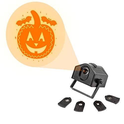 TRIXES Projecteur 1x de Joyeux Halloween Orange Pale de Dessins 4X Inclus