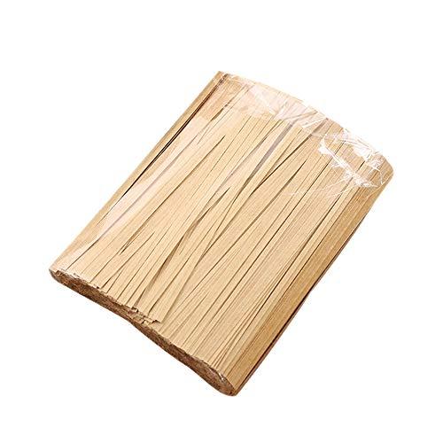 YOFASEN Kraft-Papier Twistband - 1000PCS Torsionriegel Twist Tie Bindestreifen für Packungs Beutel Dichtung, Braun, 12cmx4mm