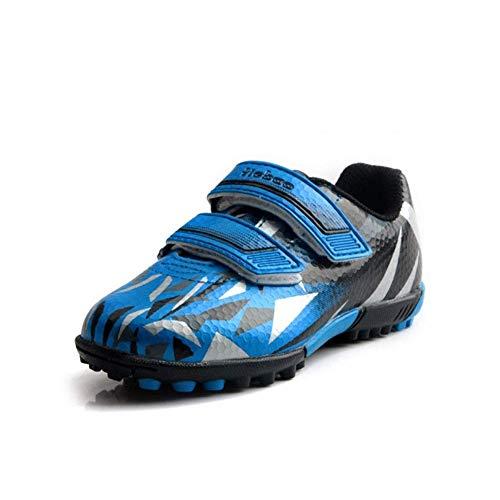 IRON JF Adolescente Moldeado Stud Botas de fútbol, Pista Atletismo Muchachos Unisex Equipo Entrenamiento al Aire Libre Las Zapatillas Deporte competición Chica Boy TF Zapatos fútbol Profesional