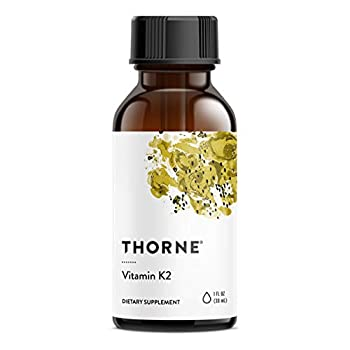 Thorne Research - Vitamin K2 Liquid  1 mg per Drop  - Concentrated Vitamin K2 Supplement for Heart and Bone Support - 1 Fl Oz