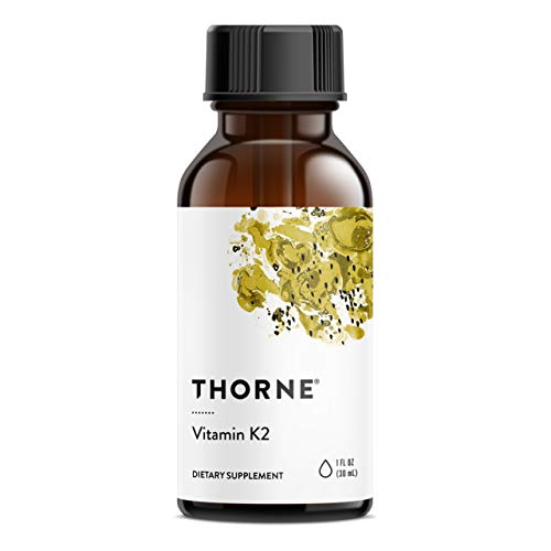 Thorne Research - Vitamin K2 Liquid (1 mg per Drop) - Concentrated Vitamin K2 Supplement for Heart and Bone Support - 1 Fl Oz