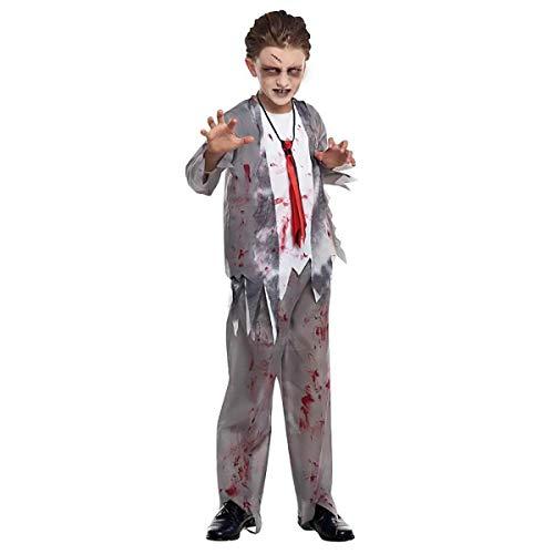 H HANSEL HOME Disfraz Zombie Colegial Infantil Cosplay/Carnaval/Halloween Unisex Size 4-6 años