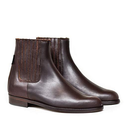 Botas y Botines Piel marrón para Hombre y Mujer Chelsea clásica elástico de Valverde del Camino
