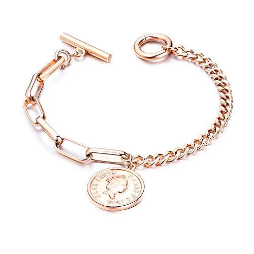 ZHHAOXINJE Sterke Titanium Staal Armband, Vrouwen Verstelbare Mode Armband, Gift Voor Moederdag Verjaardag Meisje Zuster Vriendin (met Geschenkdoos) voor Mannen Vrouwen