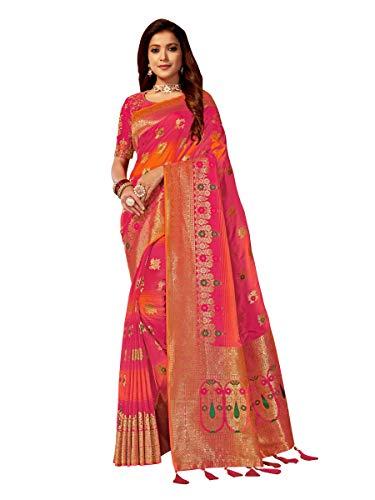 Manohari Banarasi Silk Jacquard Saree With Blouse Piece