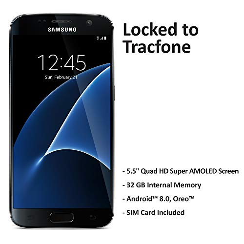 ($50 eGift Card Promotion) TracFone Samsung Galaxy S7 4G LTE Prepaid Smartphone (Locked) - Black...
