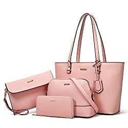 pink 4 piece purse set, best christian gifts for women