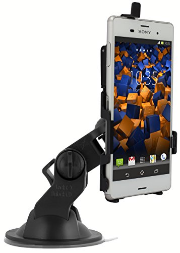 mumbi KFZ Halterung für Sony Xperia Z3 / Xperia Z3 Dual / Autohalterung VibrationsFREI / 90° QUERBetrieb möglich