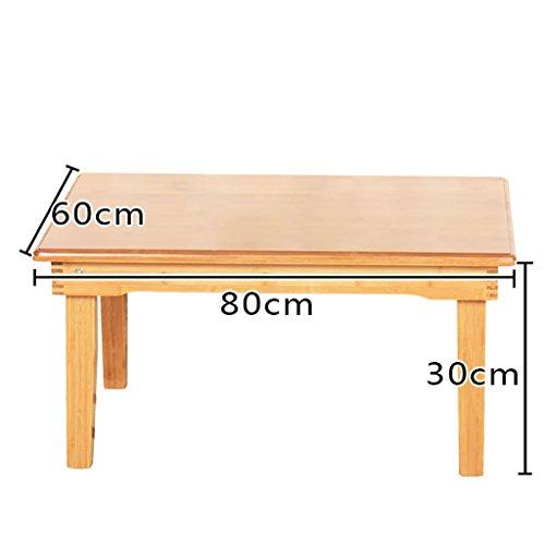 Table en bois ordinateur bureau lit plier paresseux Portable ordinateur portable petit bureau lit (taille : 60 * 80 * 30cm)