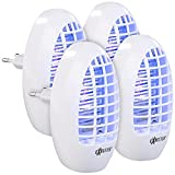 Exbuster Mückenlicht Steckdose: 4er-Set Steckdosen-Insektenvernichter mit UV-Licht, für Räume bis 20m² (Elektrischer Fliegenfänger)