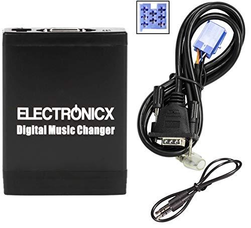 Electronicx ELEC-TM06-FA Adattatore USB SD AUX MP3 Compatibile con Fiat Alfa Romeo e Lancia per Radio Blaupunkt Visteon
