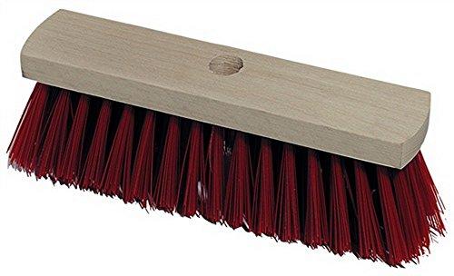 Besen / Straßenbesen mit Flachholz und Stielloch (24 mm) Kunststoffborsten (32 cm breit) ohne Stiel