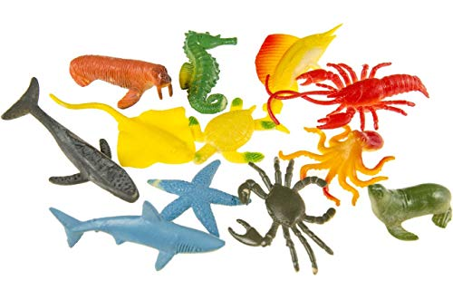 12 petites créatures de la mer colorées