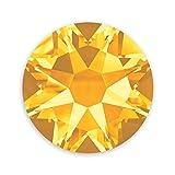 JewelrySupply Swarovski Crystal Flat Back Rhinestones (Glue-on) 2088 4mm (SS16) Sunflower Flat Back (Pack of 10)