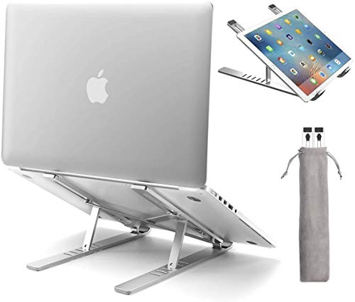 Laptop Stand, Ergonomic Laptops Elevator for Desk, Aluminum Computer Riser,Metal Holder Compatible with Mac MacBook Pro Air, Lenovo, HP, Dell, More 10-15.6 Inch PC Notebook