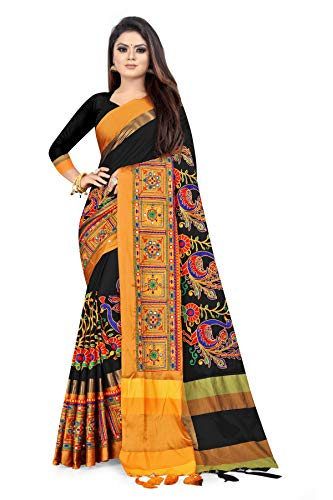 arriva fab Women's Cotton Silk Saree