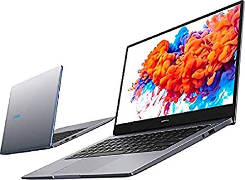 HONOR MagicBook 15 Laptop, 39cm (15,6 Zoll), Full HD IPS, 256 GB PCIe SSD, 8 GB RAM, AMD Ryzen 5 3500U, Fingerabdrucksensor, Deutsches QWERTZ-Layout, Windows 10 Home - Space Grey