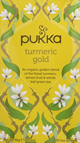 Pukka Thé Vert Bio Or de Curcuma 20 Sachets 36 g - Lot de 2