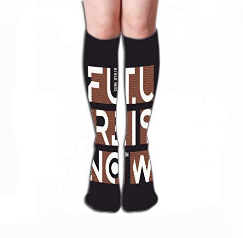 zexuandiy Hohe Socken Print Knee High Socks Athletic Over The Calf Tube 19.7