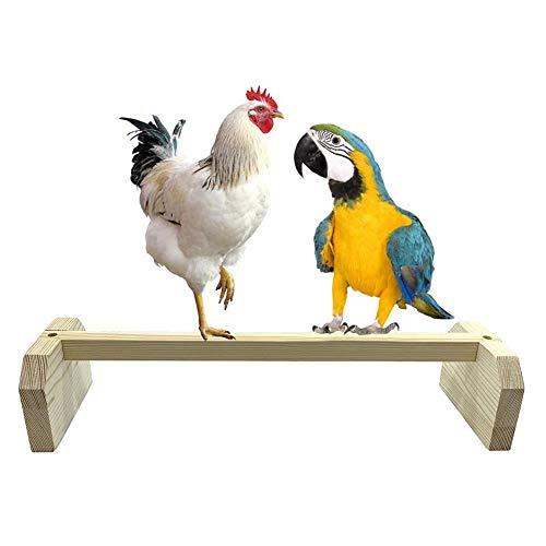 Hearthrousy Papageien Vogelstände Sitzplatz für Papageien Hähnchen Holz Vogelspielplatz Vogelspielzeug hölzerne Papageienspielplatz Sitzstangen für Hühner Großvogelpapagei
