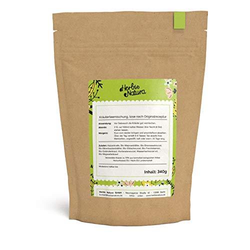 Herbis Natura Teemischung zur Unterstützung der Nierenfunktion, loser Tee, Kräutermischung aus 70 % Bio-Kräutern, Originalrezeptur, Tee-Kur für 20 Tage, 340 g