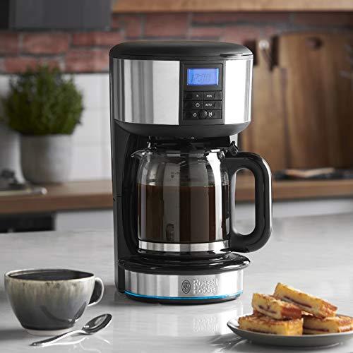Russell Hobbs 20680 Buckingham Filter Coffee Machine, 1.25 Litre, Black/Silver