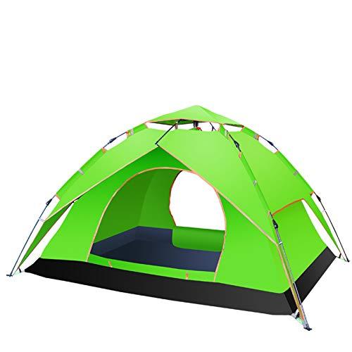 Ultraleichtes Outdoor Pop Up Familienzelt 3-4 Personen Campingzelt UV-beständiges Wurfzelt Pop Up Zelt Wasserdicht und Schnellaufbau für Camping Trekking Outdoor Doppelschicht Strandzelt