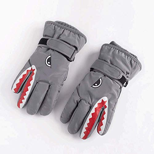 XRXX Handschuhe Gramm Thermal Thinsulate Insulation Fäustlinge Primary School Students Durable Water Repellent-Finish Connected-Clip Fasteners Polyester (Color : 03, Size : XL)