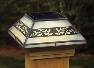 Deckorators 158414 Solar Tiffany Style Leaf 3-1/2