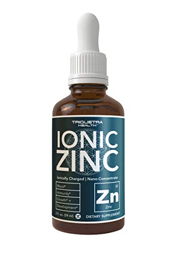 Ionic Liquid Zinc Supplement (240 Servings) |Best Value & Quality| Glass Bottle, Vegan, Highest Absorption, Zinc Sulfate | Supports Immunity, Mood, Brain Thyroid (2 oz.)