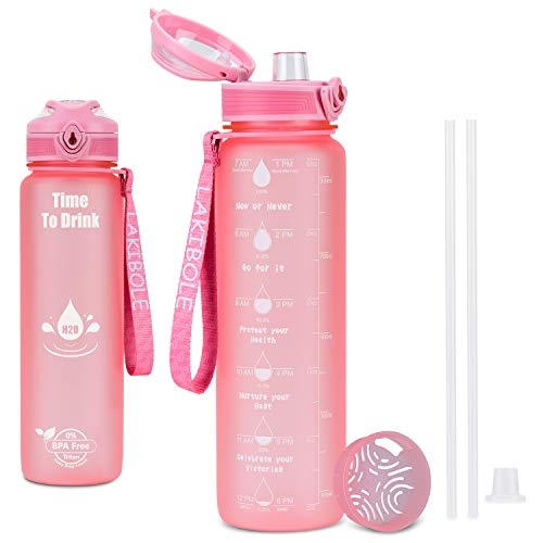 (51% OFF) 32 oz Time Marker Water Bottle W/ Straws $9.80 – Coupon Code
