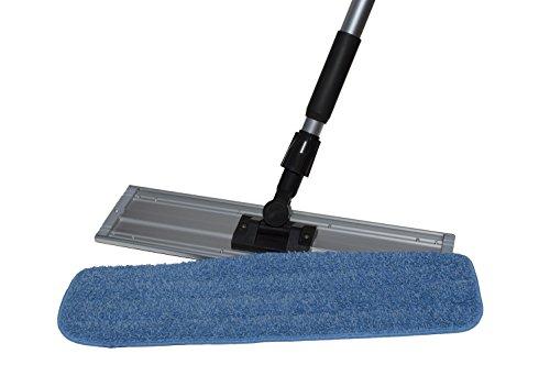 Nine Forty Microfiber Wet Dry Dust Mop Head for Hardwood Floor Set   Handle   18 Inch Flat Pad Broom