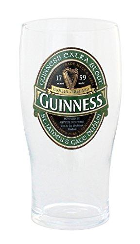 McLaughlin's Irish Shop Guinness Bierglas mit grünem Sonderlogo