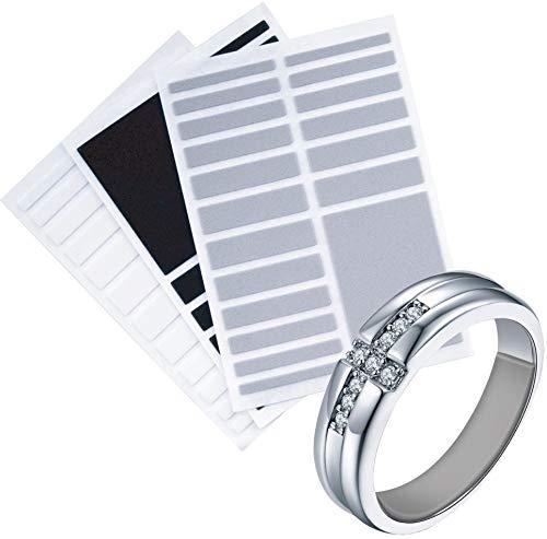 Prestigious(プレステージアス) リングテープ リングストッパー リングアジャスター テープ 3色セット(グレー・ホワイト・ブラック) 指輪 リング サイズ調節 サイズ調整 (厚さ1.5ミリ(通常タイプ))