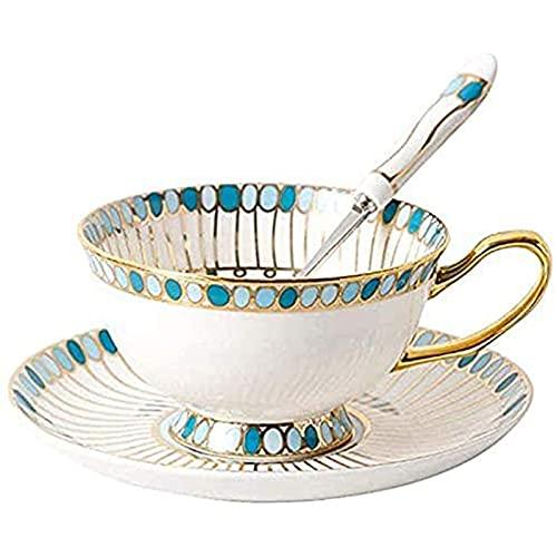 Las exquisitas tazas de café de cerámica y platillos son pequeños y frescos, que se pueden utilizar como regalo en la sala de estar familiar