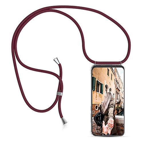 ToDo eu Carcasa de movil con Cuerda para Colgar Colgante movil Carcasa de móvil Huawei Y7 Pro 2019 - con Cordon para Llevar en el Cuello Collar de Banda de teléfono Celular Collar Celular