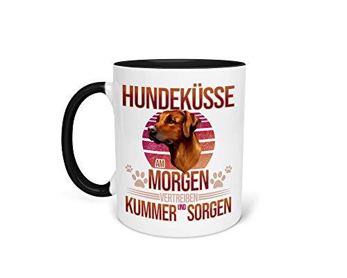 Tasse Kaffeetasse mit Rhodesian Ridgeback Hund Lustiger Spruch - Beidseitiger Druck - Frauchen - Herrchen
