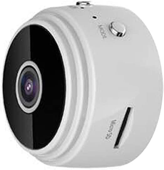 Mini Cámaras Espia Oculta, WiFi 1080P HD Cámara con IR Visión Nocturna Detector, Grabadora de Video Portátil, Camaras de Seguridad Pequeña para (Blanco, sin Tarjeta de Memoria)