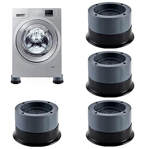Waschmaschinenfüße Anti Vibration Waschmaschine Vibration Dämpfer Pads Gummi Fußpolster Waschmaschine Füße Pad Fußpolster Anti Rutsch Gummi Fußpolster Schwingungsdämpfer für Waschmaschinen (4pcs Grey)