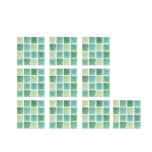 Clacce 1 Satz Fliesenaufkleber 12x12cm 3D Mosaik Fliesenfolie Küche Bad Aufkleber Fliesenaufkleber Badezimmer Fliesensticker Bad Fliesen Fliesendekor