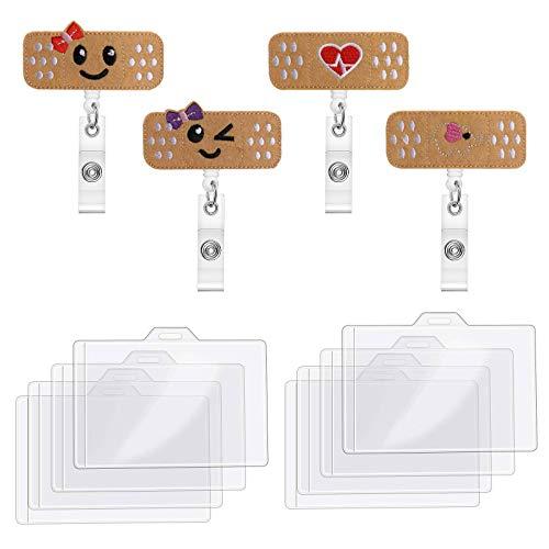 AODOOR 4 pezzi porta badge retrattile con morsetto ID per infermiere, badge a scomparsa, per studenti volontari, insegnanti, infermieri, regali