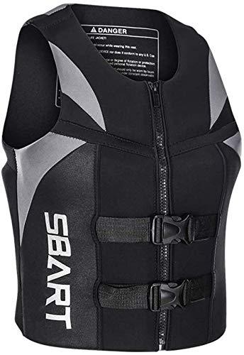 XZHFC Chaleco Salvavidas Adulto Hebilla Ajustable Portátil Flotan Chalecos De Natación De Flotabilidad Ayuda Chaleco De Ayuda para Snorkel Kayaking Pesca Grey-X-Large