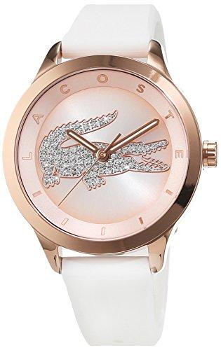 Lacoste Damen-Armbanduhr Victoria Small Analog Quarz Silikon 2000915